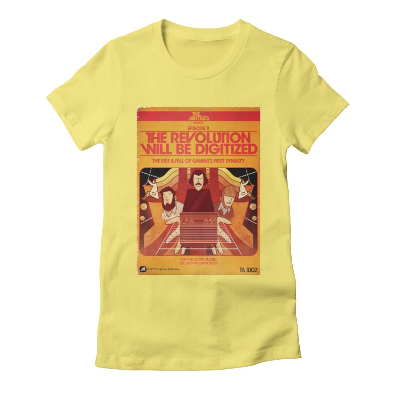 Box Art Apparel Series: The Revolution will be Digitized Women's Fitted T-Shirt by The Artists