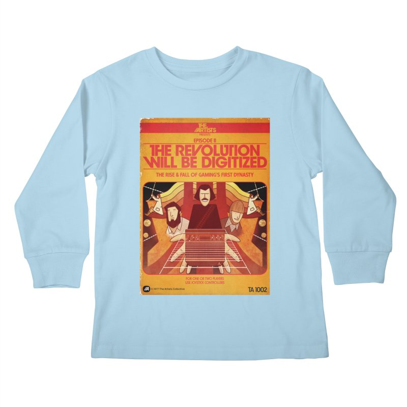 Box Art Apparel Series: The Revolution will be Digitized Kids Longsleeve T-Shirt by The Artists