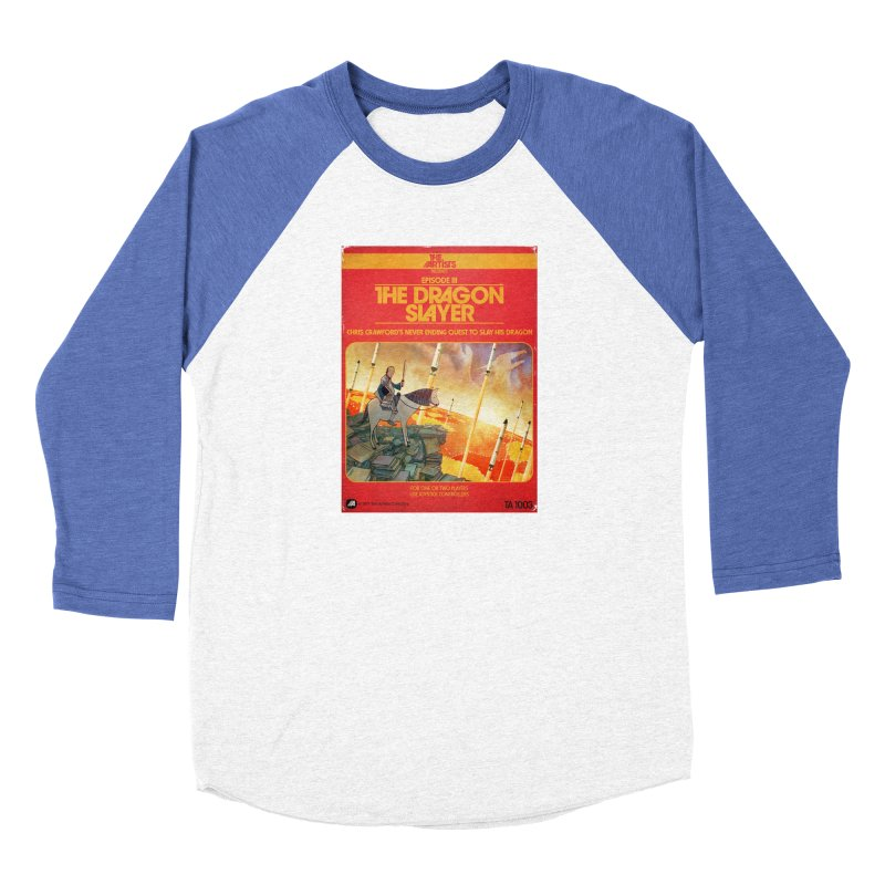 Box Art Apparel Series: The Dragon Slayer Women's Baseball Triblend Longsleeve T-Shirt by The Artists