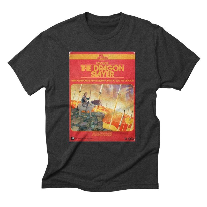 Box Art Apparel Series: The Dragon Slayer Men's Triblend T-Shirt by The Artists