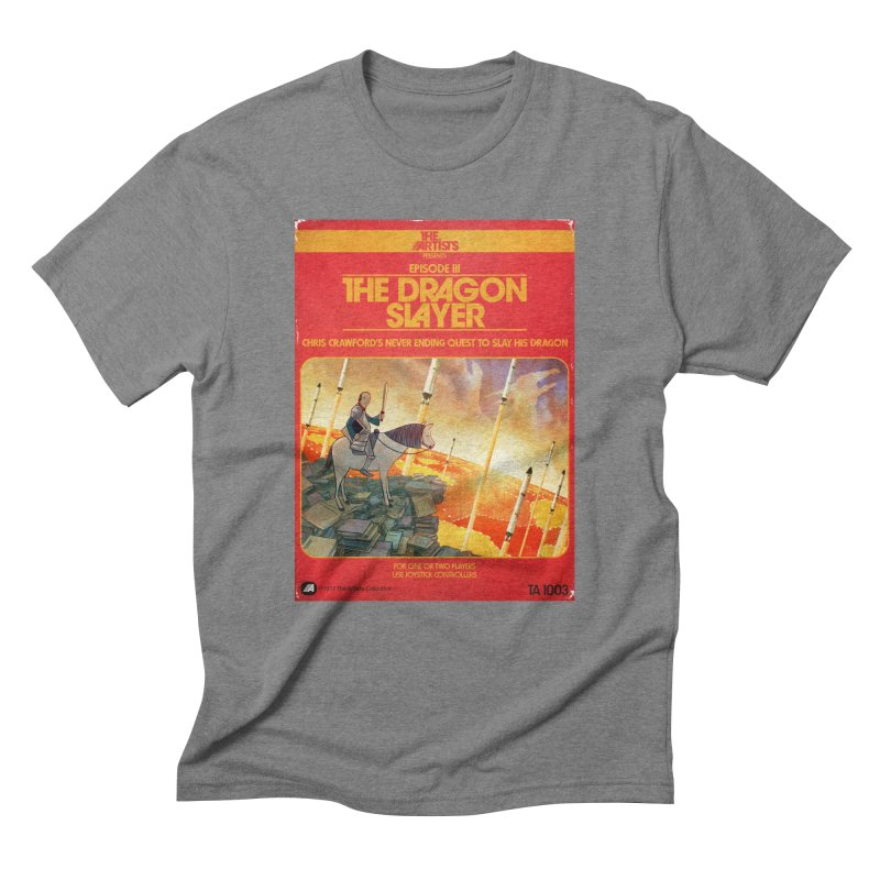 Box Art Apparel Series: The Dragon Slayer Men's Triblend T-Shirt by The Artists