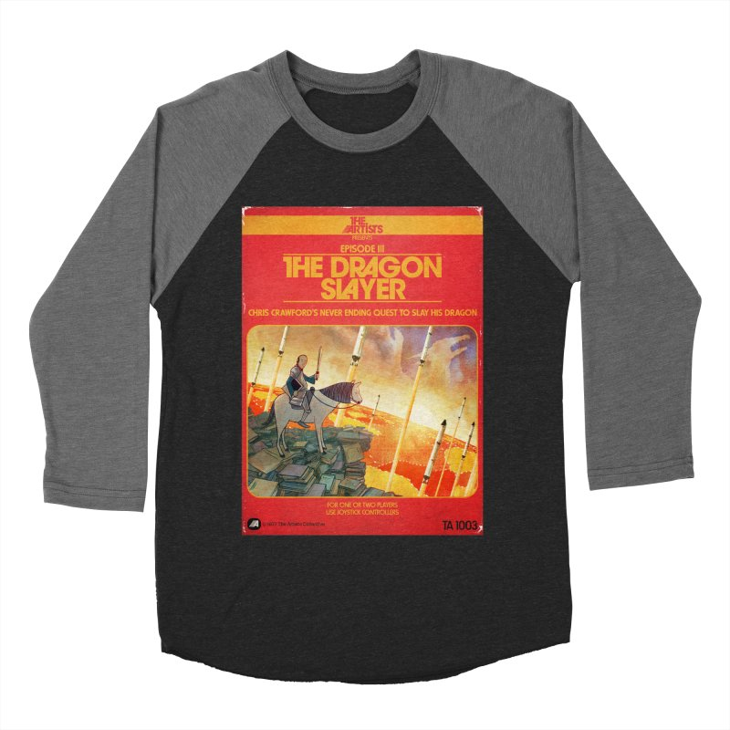 Box Art Apparel Series: The Dragon Slayer Men's Baseball Triblend Longsleeve T-Shirt by The Artists