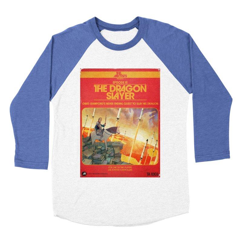 Box Art Apparel Series: The Dragon Slayer Men's Baseball Triblend Longsleeve T-Shirt by The Artists