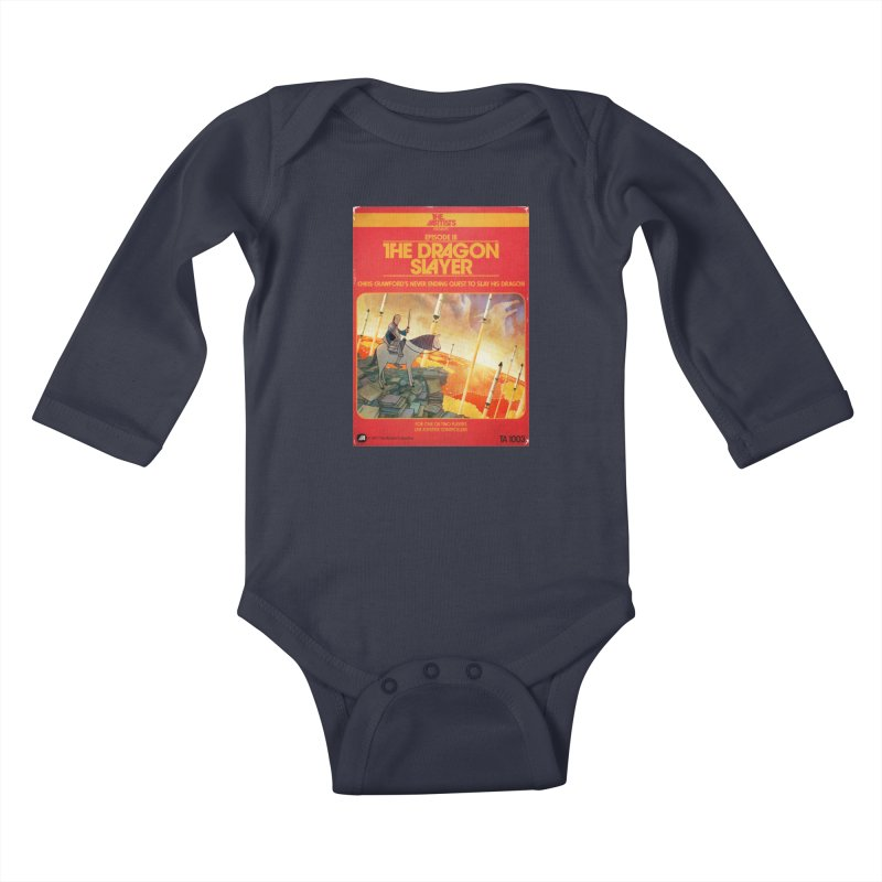 Box Art Apparel Series: The Dragon Slayer Kids Baby Longsleeve Bodysuit by The Artists