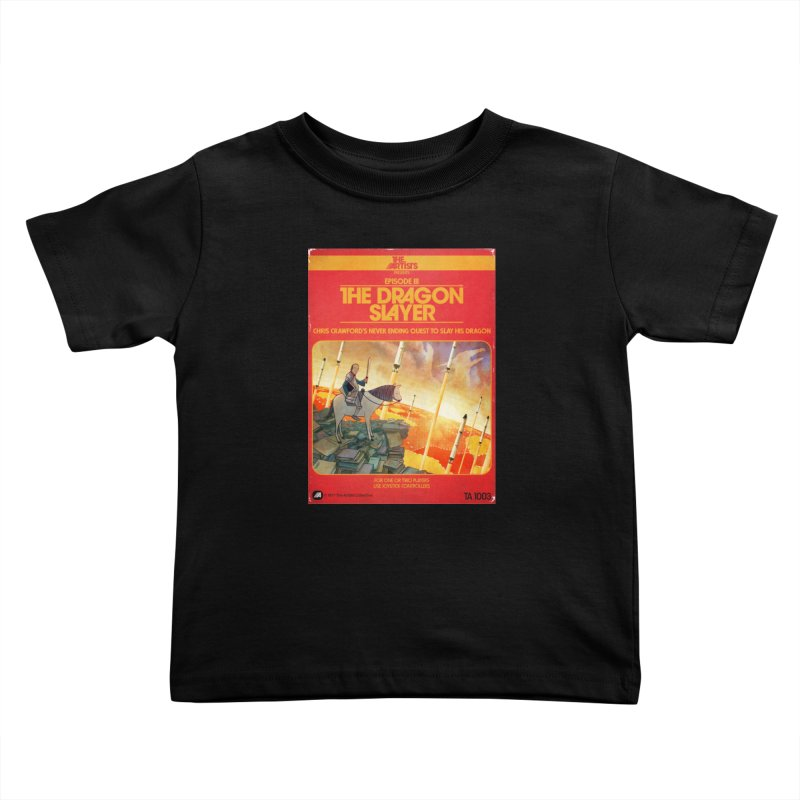 Box Art Apparel Series: The Dragon Slayer Kids Toddler T-Shirt by The Artists
