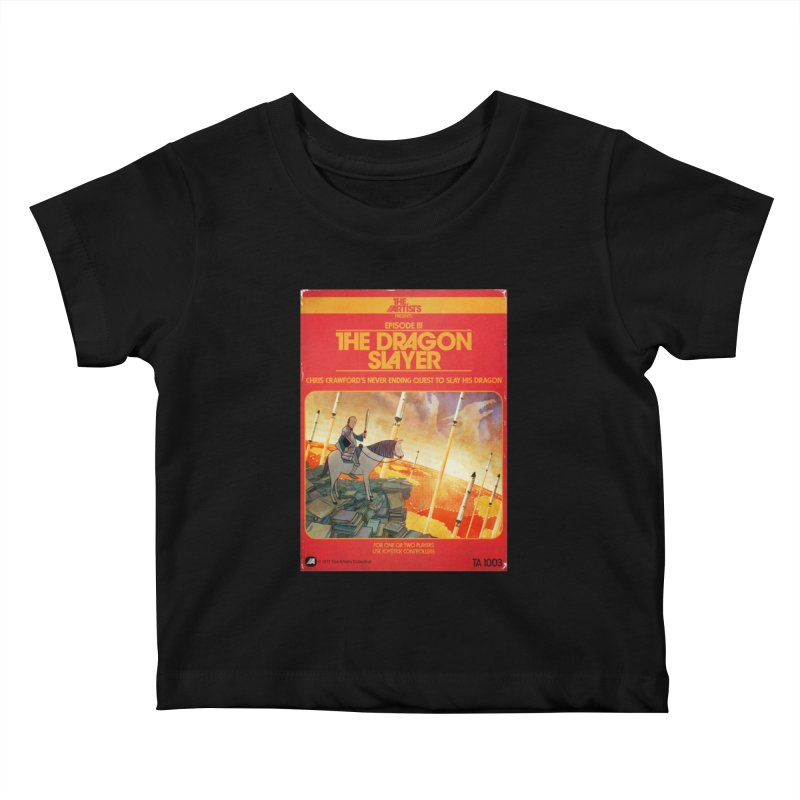 Box Art Apparel Series: The Dragon Slayer Kids Baby T-Shirt by The Artists