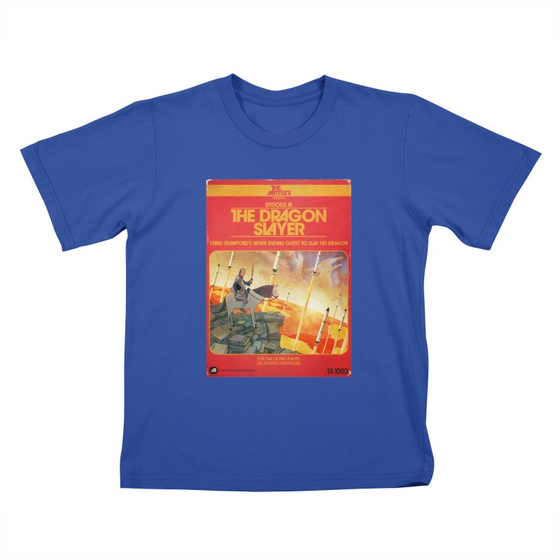 Box Art Apparel Series: The Dragon Slayer Kids T-Shirt by The Artists