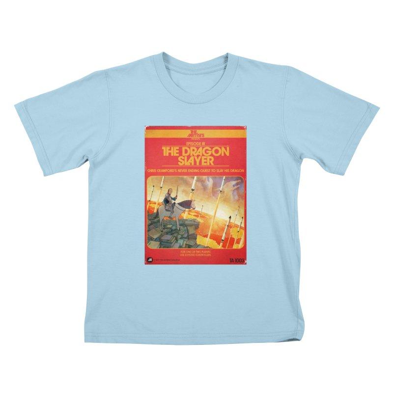 Box Art Apparel Series: The Dragon Slayer Kids T-Shirt by The Artists