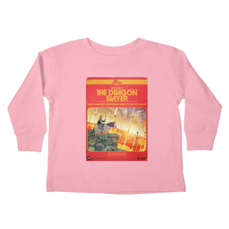Box Art Apparel Series: The Dragon Slayer Kids Toddler Longsleeve T-Shirt by The Artists