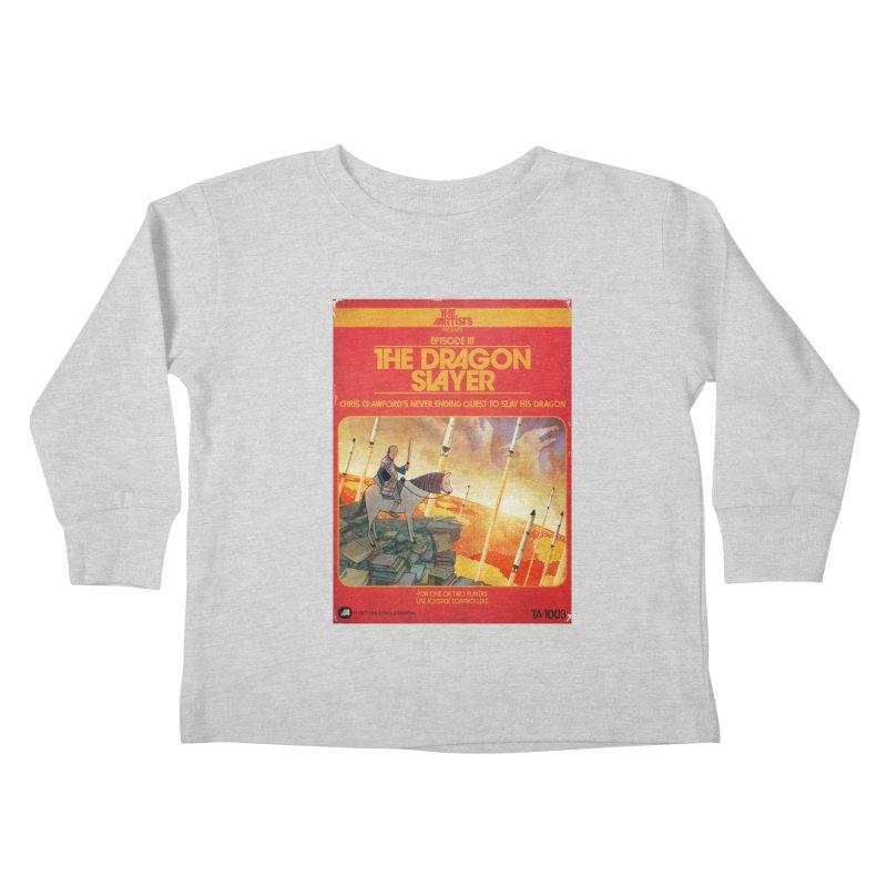 Box Art Apparel Series: The Dragon Slayer Kids Toddler Longsleeve T-Shirt by The Artists