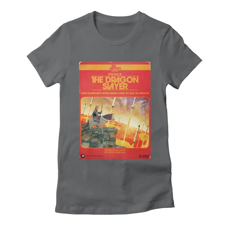 Box Art Apparel Series: The Dragon Slayer Women's Fitted T-Shirt by The Artists