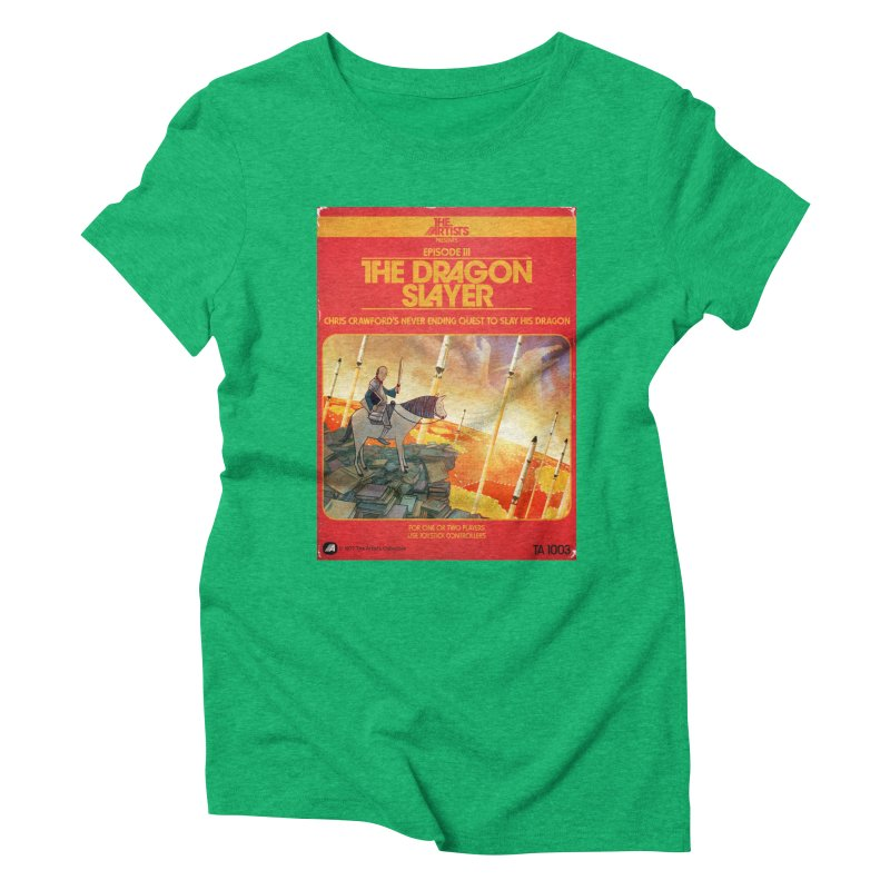 Box Art Apparel Series: The Dragon Slayer Women's Triblend T-Shirt by The Artists