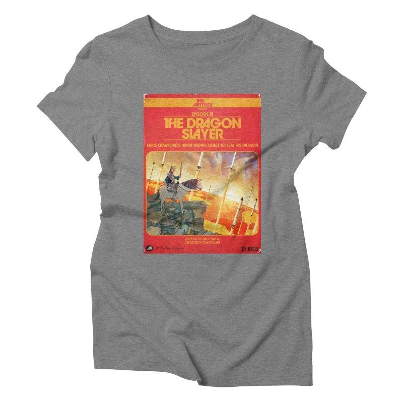 Box Art Apparel Series: The Dragon Slayer Women's Triblend T-Shirt by The Artists