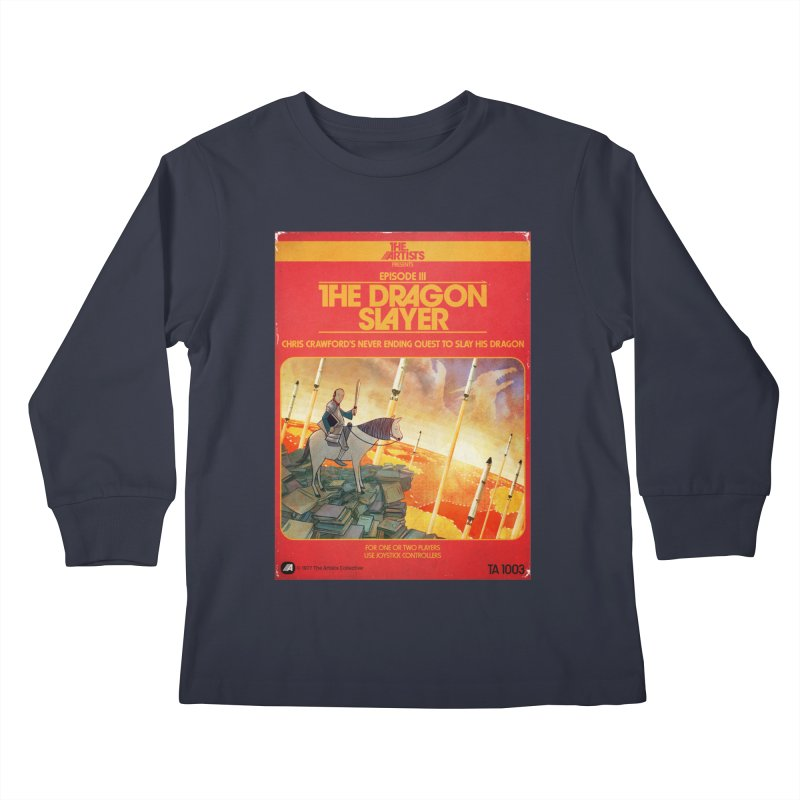 Box Art Apparel Series: The Dragon Slayer Kids Longsleeve T-Shirt by The Artists