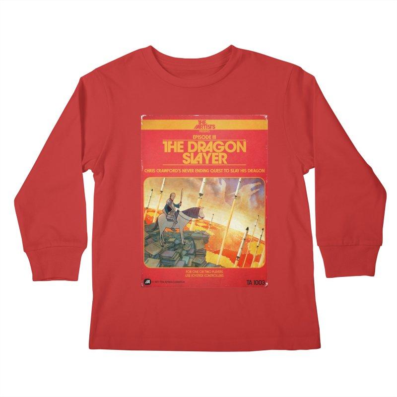 Box Art Apparel Series: The Dragon Slayer Kids Longsleeve T-Shirt by The Artists