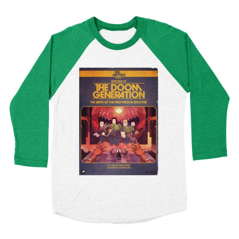 Box Art Apparel Series: The Doom Generation Women's Baseball Triblend Longsleeve T-Shirt by The Artists