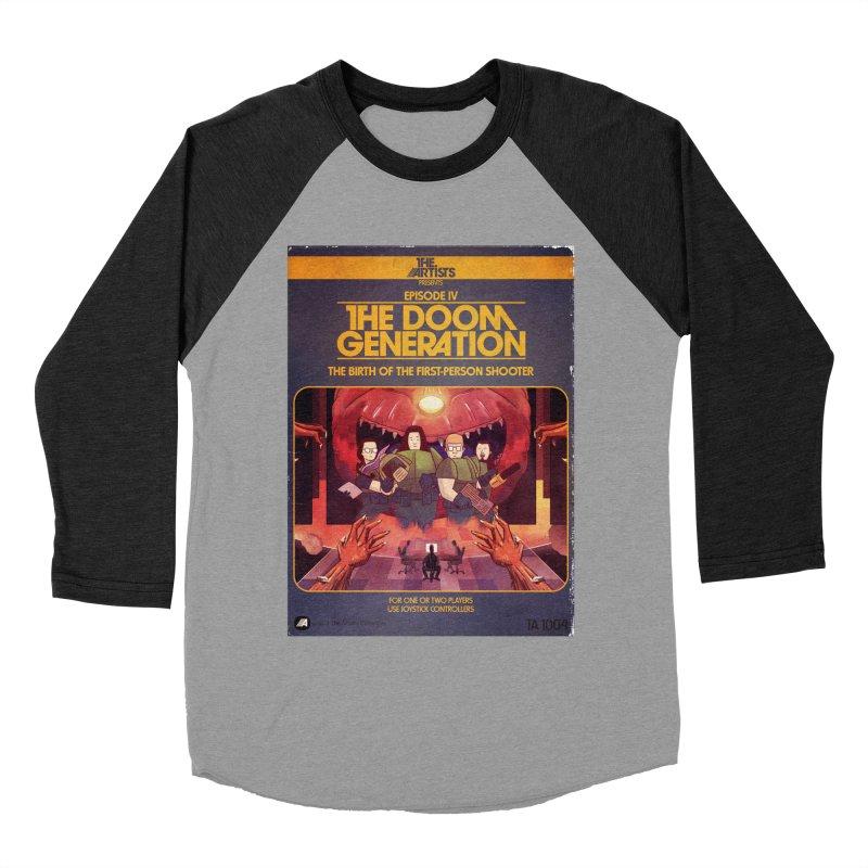 Box Art Apparel Series: The Doom Generation Men's Baseball Triblend Longsleeve T-Shirt by The Artists
