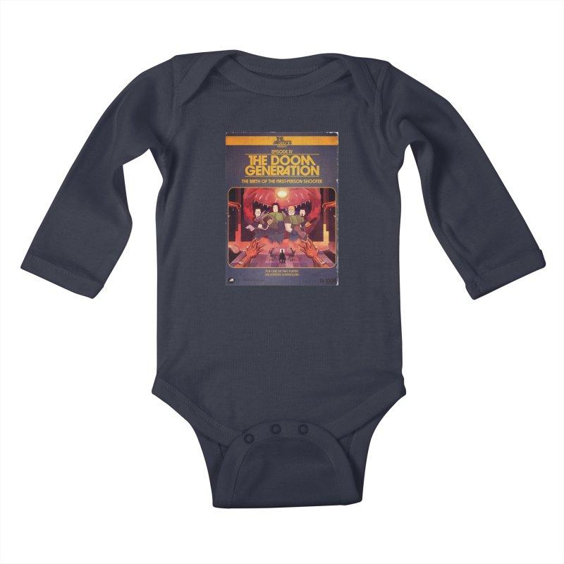 Box Art Apparel Series: The Doom Generation Kids Baby Longsleeve Bodysuit by The Artists