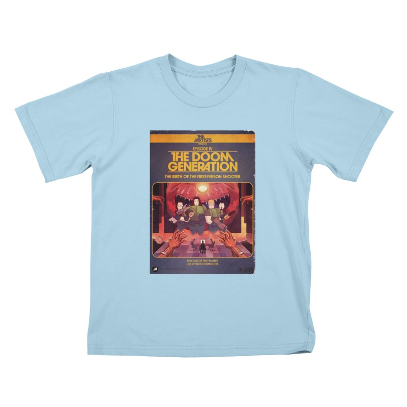 Box Art Apparel Series: The Doom Generation Kids T-Shirt by The Artists