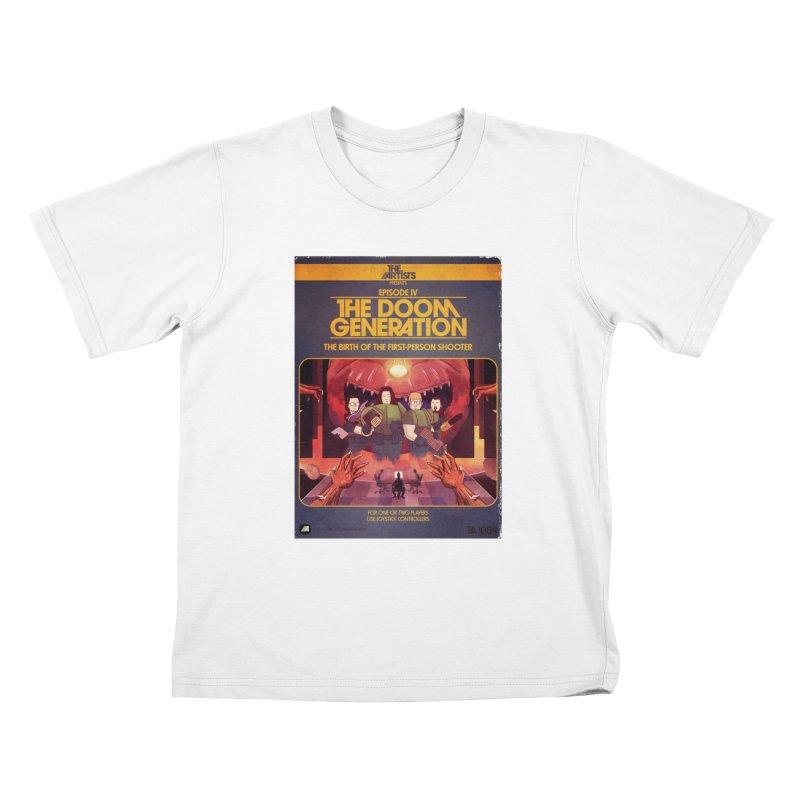 Box Art Apparel Series: The Doom Generation Kids T-Shirt by The Artists