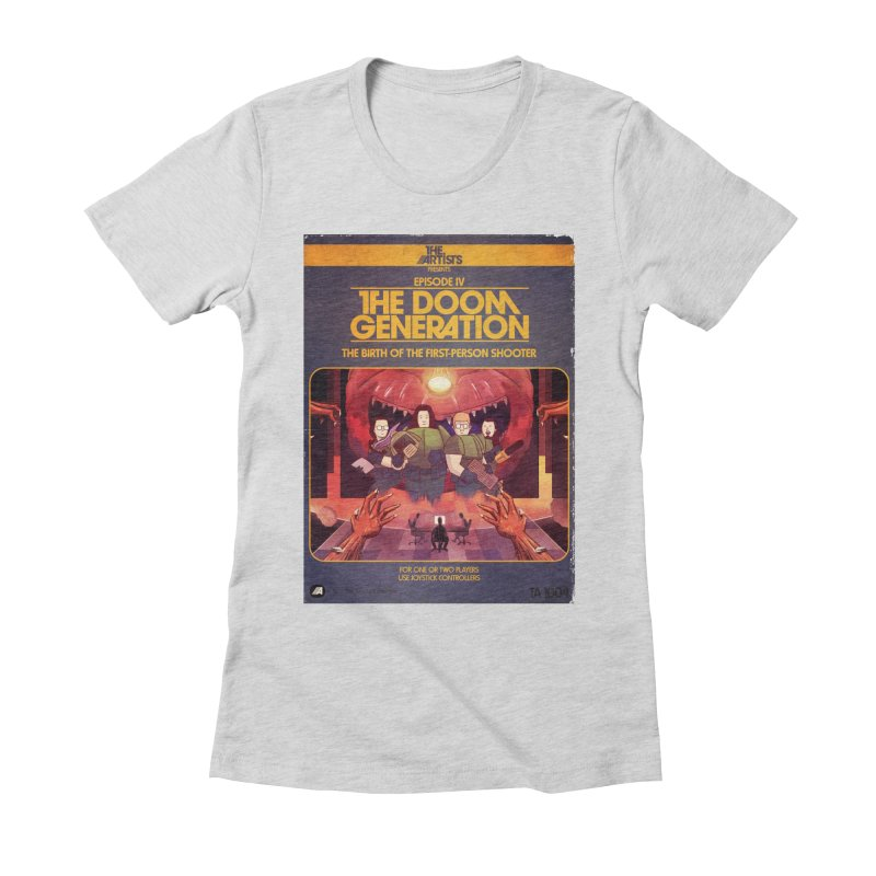 Box Art Apparel Series: The Doom Generation Women's Fitted T-Shirt by The Artists