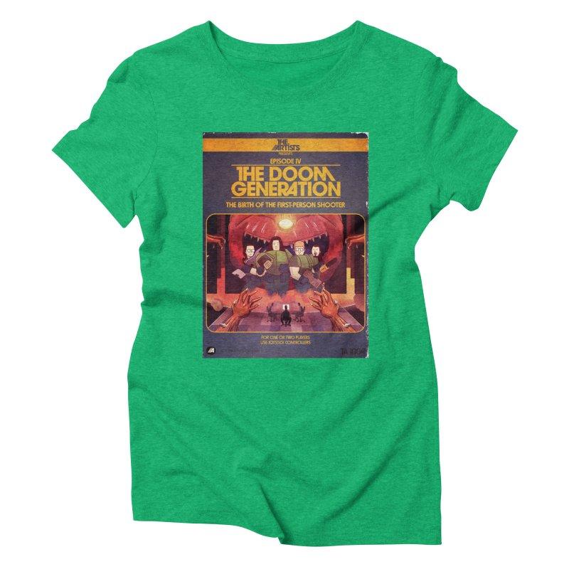 Box Art Apparel Series: The Doom Generation Women's Triblend T-Shirt by The Artists