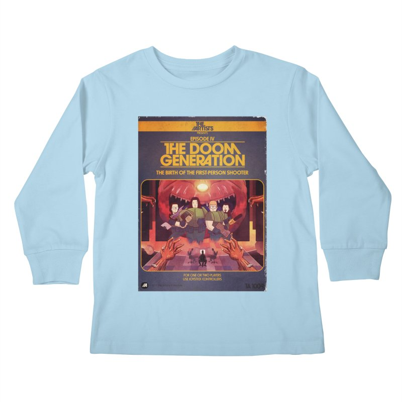 Box Art Apparel Series: The Doom Generation Kids Longsleeve T-Shirt by The Artists