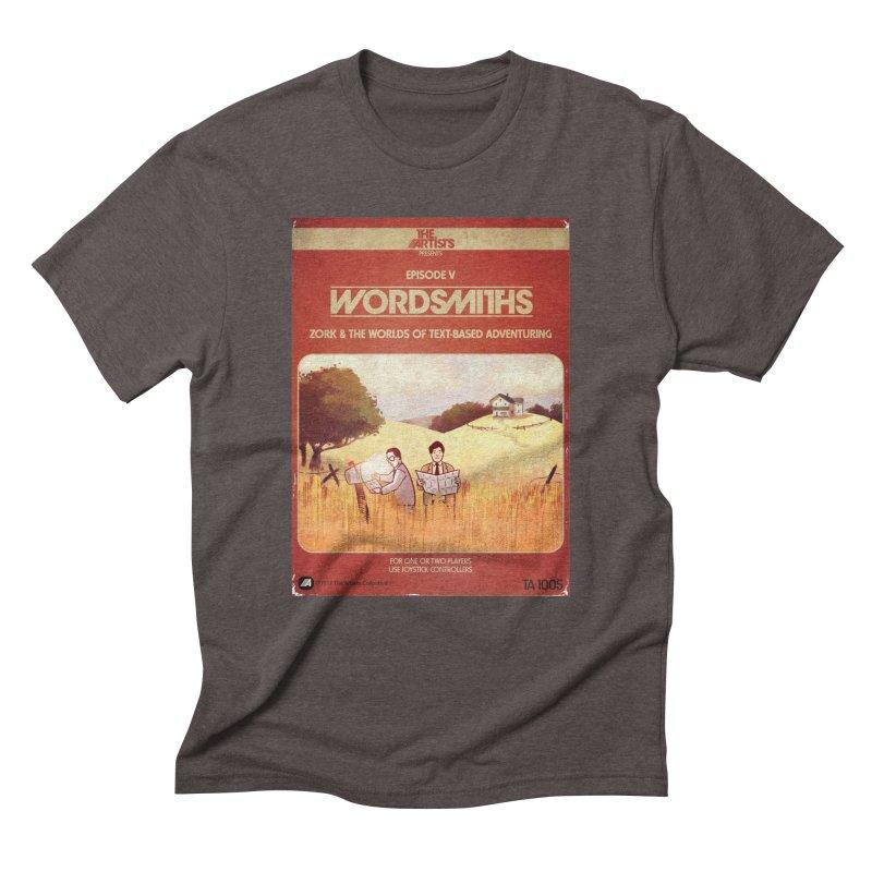 Box Art Apparel Series: Wordsmiths Men's Triblend T-Shirt by The Artists