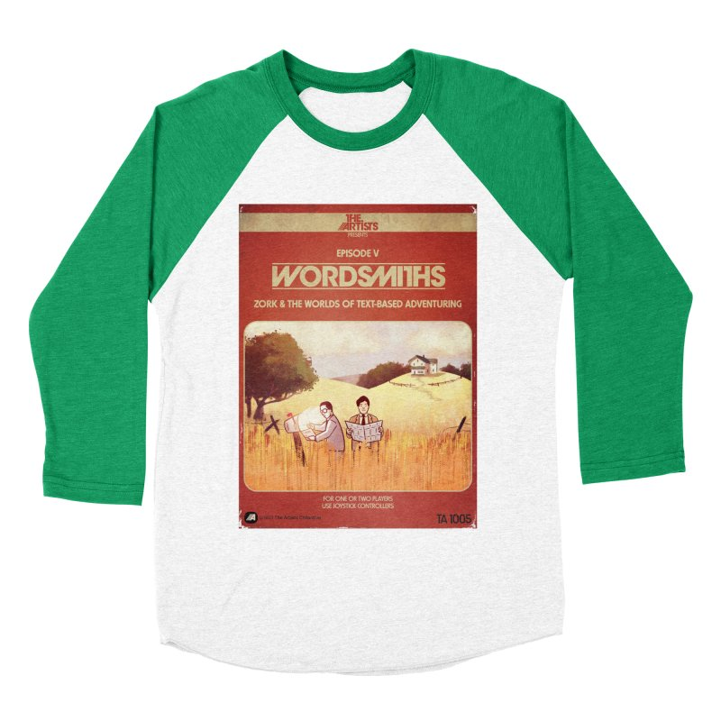 Box Art Apparel Series: Wordsmiths Men's Baseball Triblend Longsleeve T-Shirt by The Artists