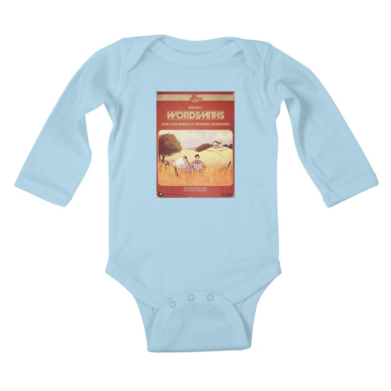 Box Art Apparel Series: Wordsmiths Kids Baby Longsleeve Bodysuit by The Artists