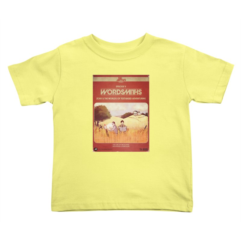 Box Art Apparel Series: Wordsmiths Kids Toddler T-Shirt by The Artists