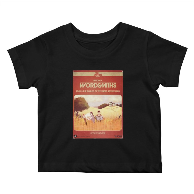 Box Art Apparel Series: Wordsmiths Kids Baby T-Shirt by The Artists