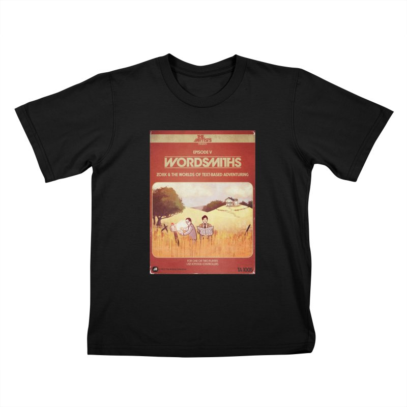 Box Art Apparel Series: Wordsmiths Kids T-Shirt by The Artists