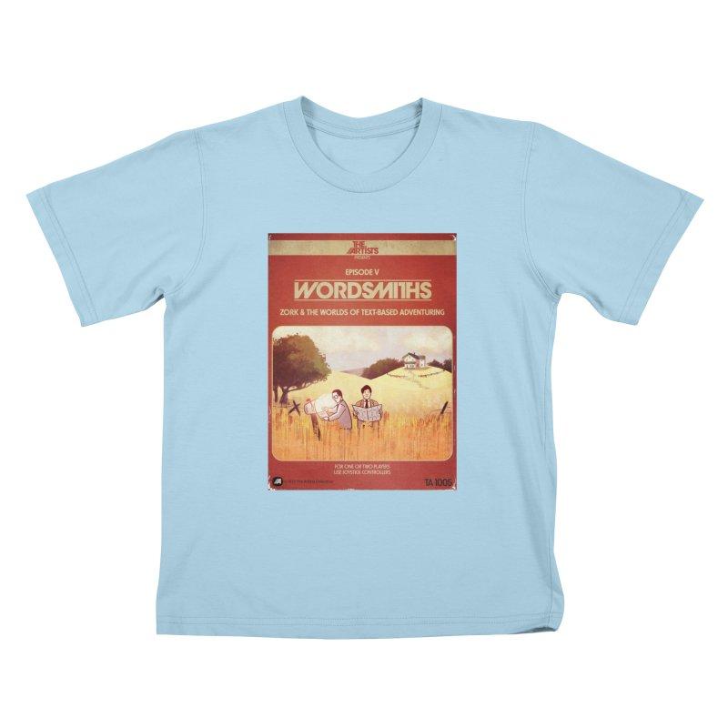 Box Art Apparel Series: Wordsmiths Kids T-Shirt by The Artists