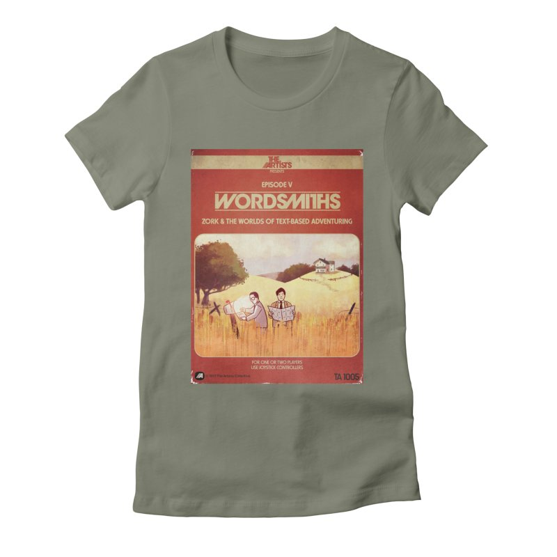 Box Art Apparel Series: Wordsmiths Women's Fitted T-Shirt by The Artists