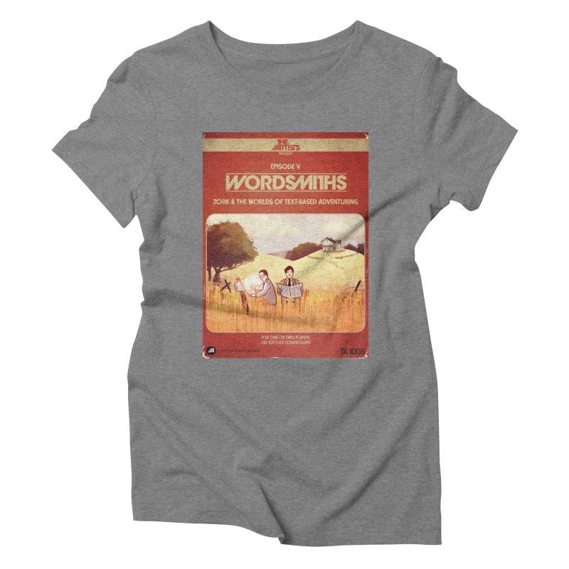 Box Art Apparel Series: Wordsmiths Women's Triblend T-Shirt by The Artists