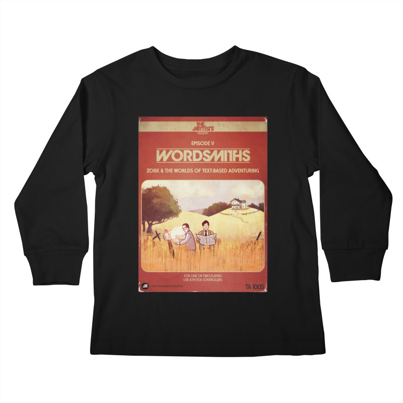 Box Art Apparel Series: Wordsmiths Kids Longsleeve T-Shirt by The Artists