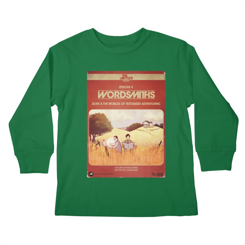 Box Art Apparel Series: Wordsmiths Kids Longsleeve T-Shirt by The Artists