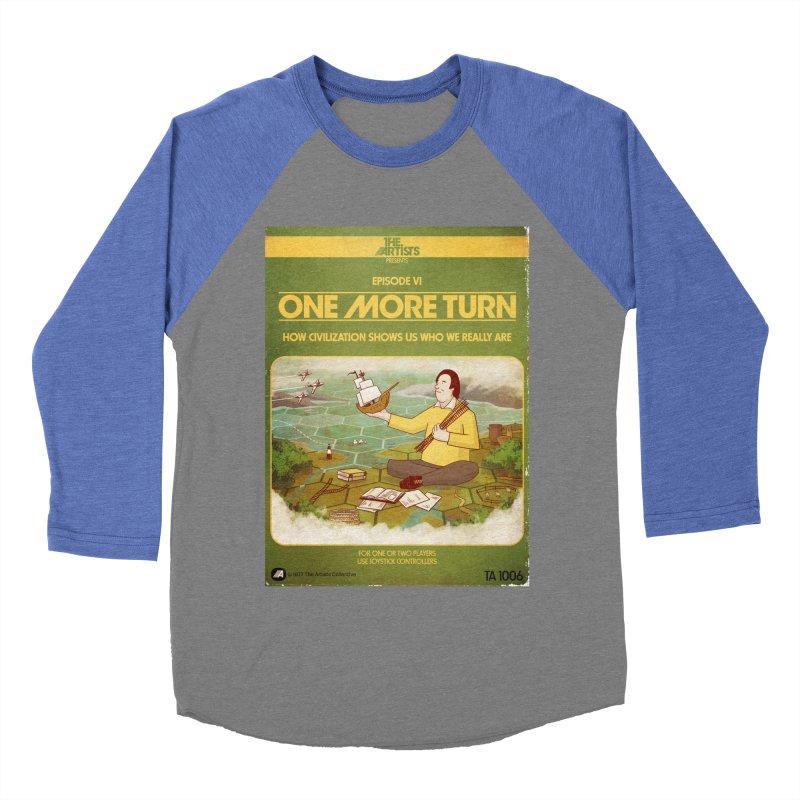 Box Art Apparel Series: One More Turn Men's Baseball Triblend Longsleeve T-Shirt by The Artists