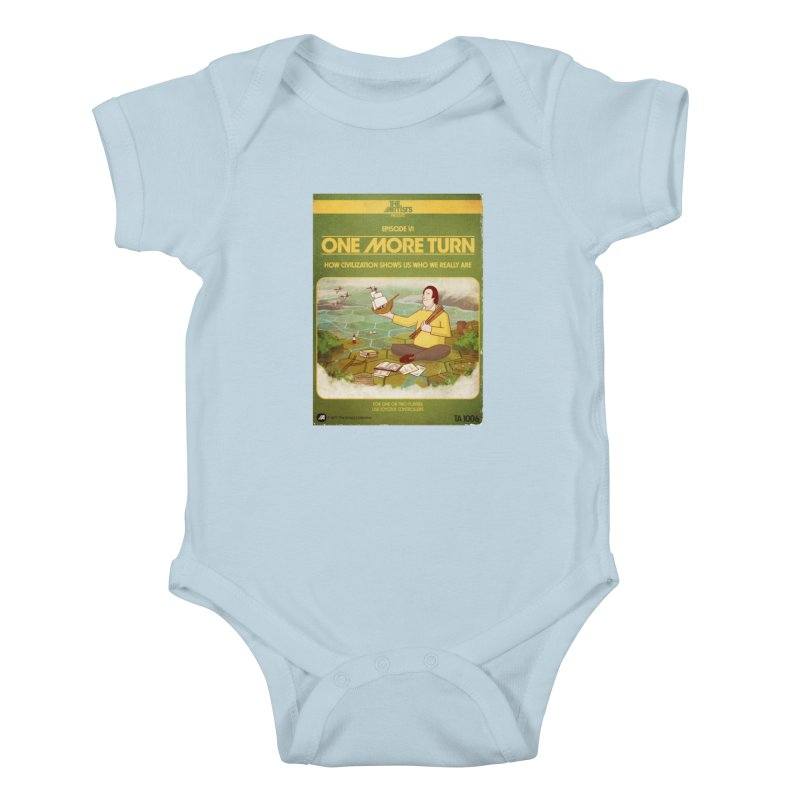 Box Art Apparel Series: One More Turn Kids Baby Bodysuit by The Artists