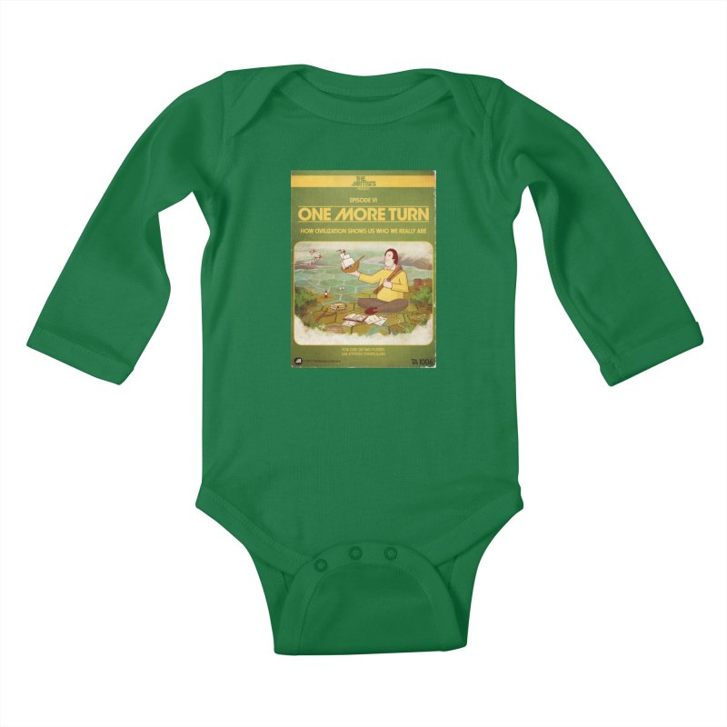 Box Art Apparel Series: One More Turn Kids Baby Longsleeve Bodysuit by The Artists