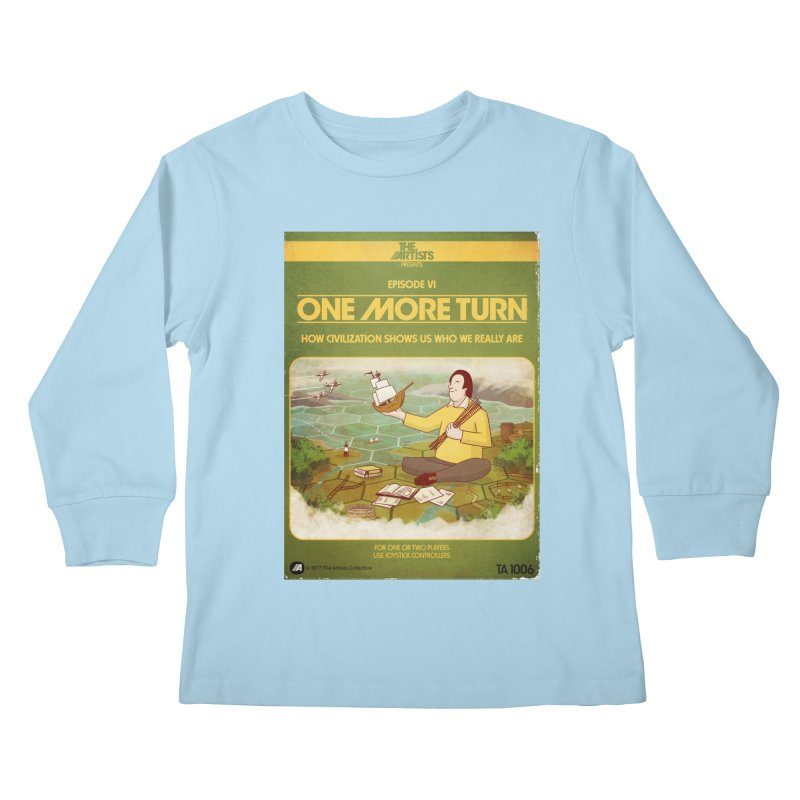 Box Art Apparel Series: One More Turn Kids Longsleeve T-Shirt by The Artists