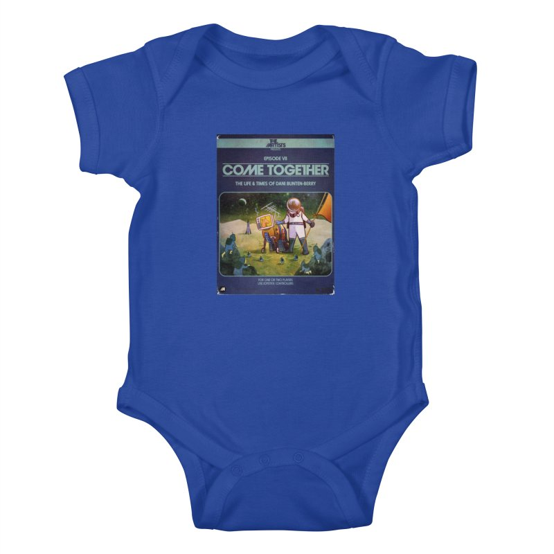 Box Art Apparel Series: Come Together Kids Baby Bodysuit by The Artists