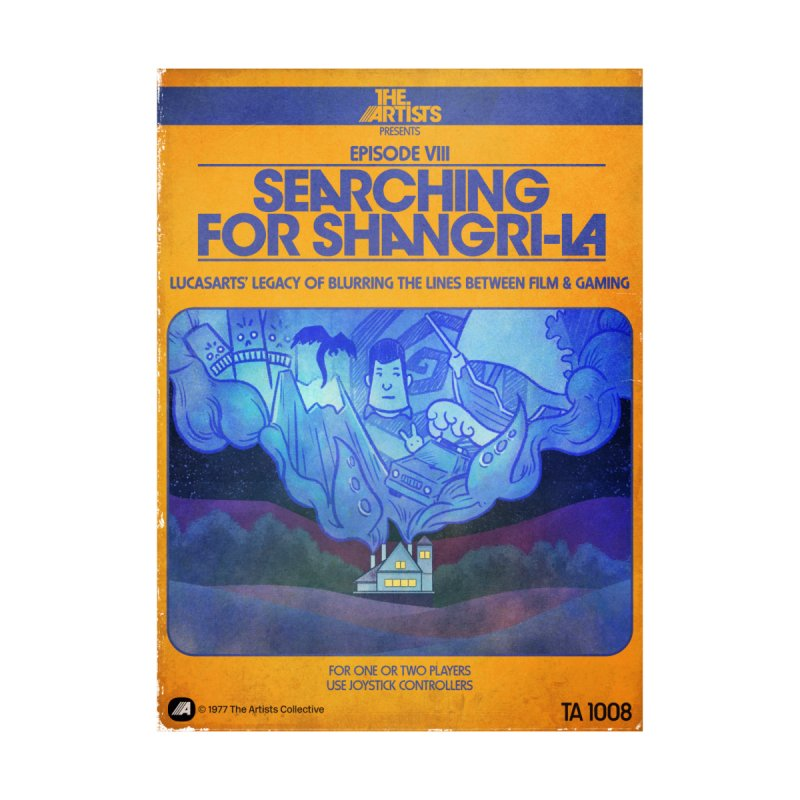 Box Art Apparel Series: Searching for Shangri-La Men's T-Shirt by The Artists
