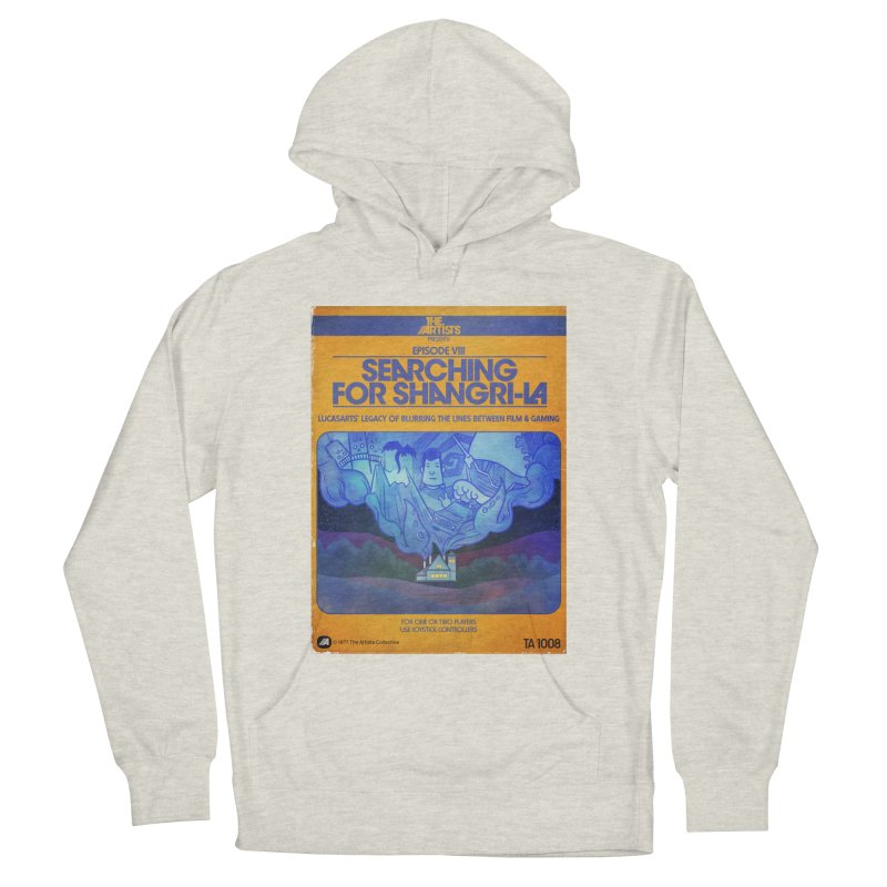 Box Art Apparel Series: Searching for Shangri-La Women's French Terry Pullover Hoody by The Artists