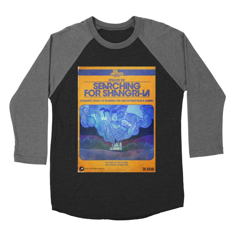 Box Art Apparel Series: Searching for Shangri-La Women's Baseball Triblend Longsleeve T-Shirt by The Artists