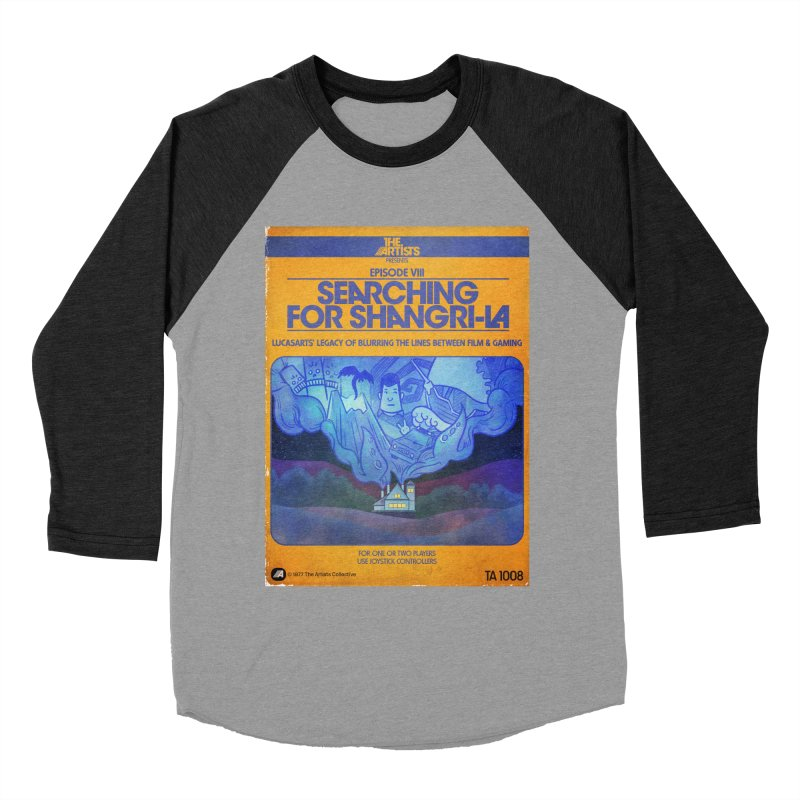 Box Art Apparel Series: Searching for Shangri-La Women's Baseball Triblend Longsleeve T-Shirt by The Artists