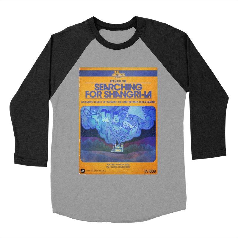 Box Art Apparel Series: Searching for Shangri-La Men's Baseball Triblend Longsleeve T-Shirt by The Artists
