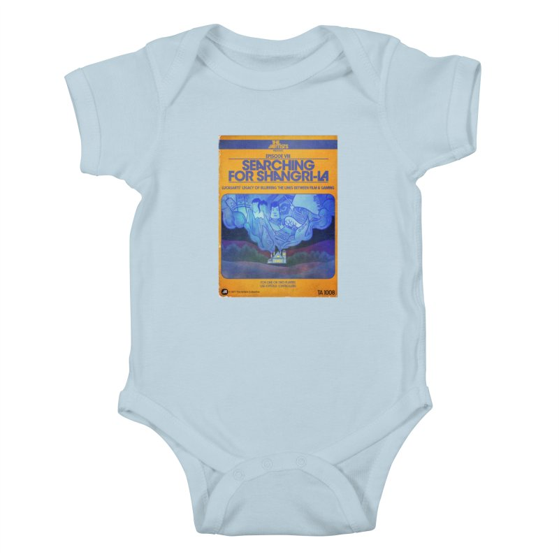 Box Art Apparel Series: Searching for Shangri-La Kids Baby Bodysuit by The Artists