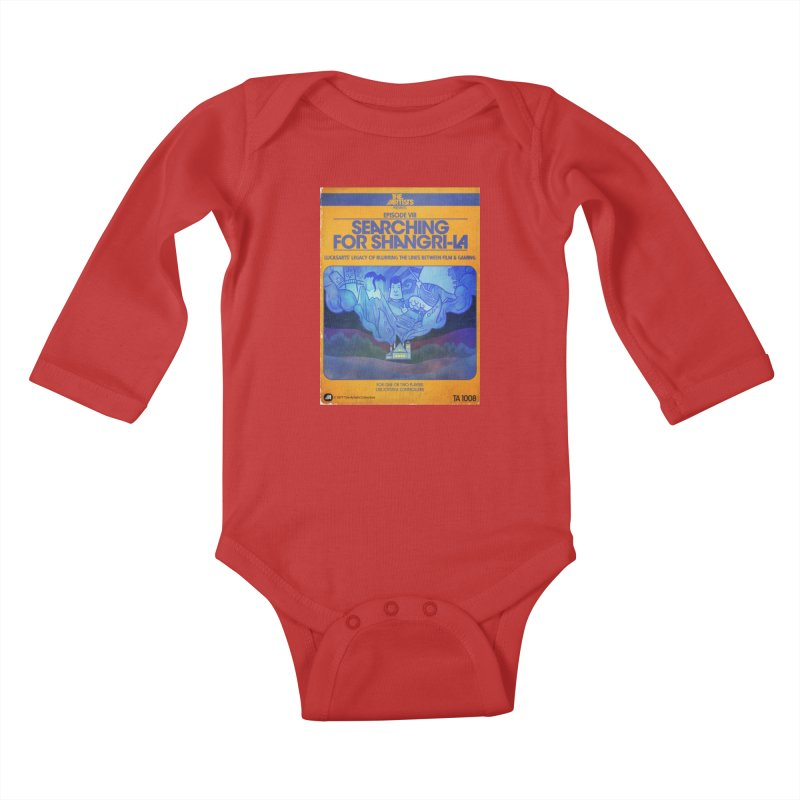 Box Art Apparel Series: Searching for Shangri-La Kids Baby Longsleeve Bodysuit by The Artists
